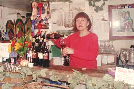 Pam pouring one of our early vintages