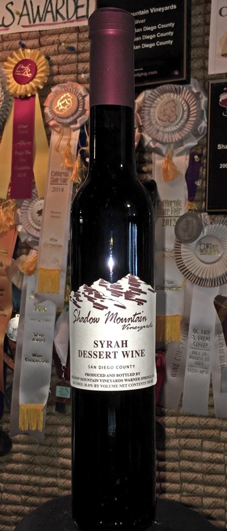 Syrah Dessert Wine